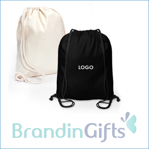 Pure Cotton Canvas Drawstring Bag (11oz)