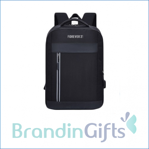"""15.6"""" Travel PU Laptop Backpack with USB Port"""