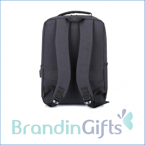 """15.6"""" Fashion Grey Laptop Backpack With USB Port"""