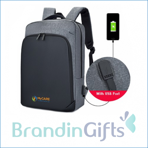 """15.6"""" MEXX Laptop Backpack with USB Port"""