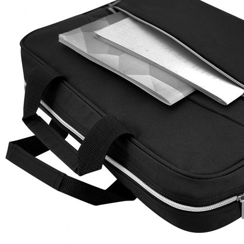Strap ll Line Document Laptop Sling Bag (Black)