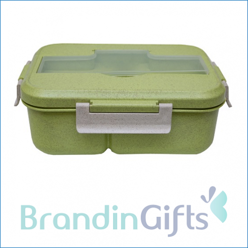 Munich Eco Wheat Straw Lunch Box with Cutlery Set