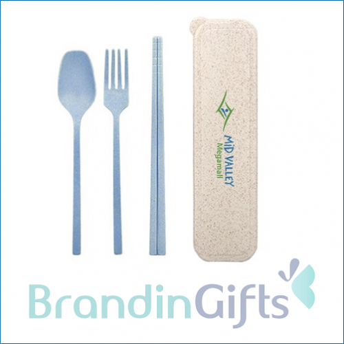 KOMO 3-in-1 Eco Wheat Cutlery Gifts Set