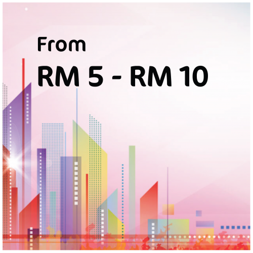 From RM5 - RM10